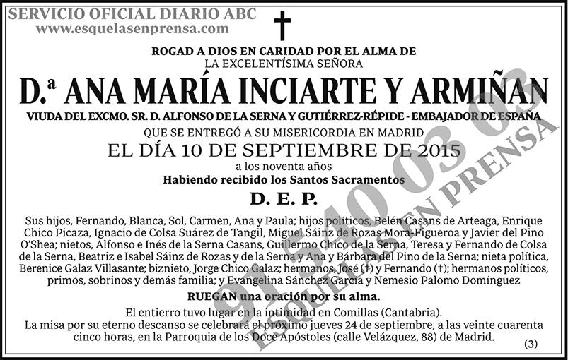Ana María Inciarte y Armiñan